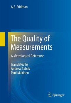 The Quality of Measurements (eBook, PDF) - Fridman, A. E.