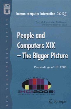 People and Computers XIX - The Bigger Picture (eBook, PDF)