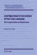 Contributions to the Science of Text and Language (eBook, PDF)