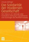 Die Solidarität der modernen Gesellschaft (eBook, PDF)