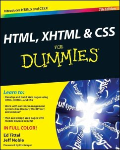 HTML, XHTML and CSS For Dummies (eBook, ePUB) - Tittel, Ed; Noble, Jeff