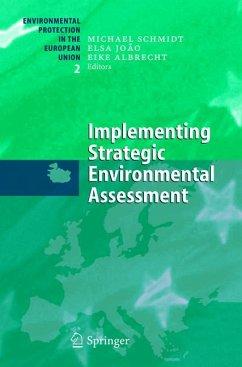 Implementing Strategic Environmental Assessment (eBook, PDF)