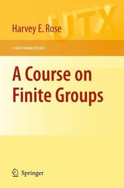 A Course on Finite Groups (eBook, PDF) - Rose, H. E.