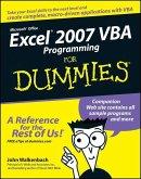 Excel 2007 VBA Programming For Dummies (eBook, ePUB)