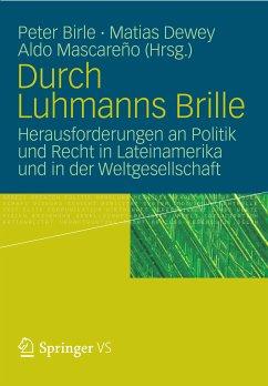 Durch Luhmanns Brille (eBook, PDF)