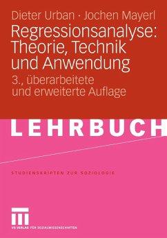Regressionsanalyse: Theorie, Technik und Anwendung (eBook, PDF) - Urban, Dieter; Mayerl, Jochen