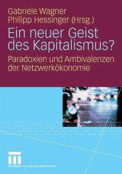 Ein neuer Geist des Kapitalismus? (eBook, PDF) - Hessinger, Philipp; Wagner, Gabriele