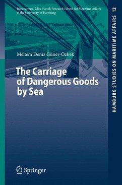 The Carriage of Dangerous Goods by Sea (eBook, PDF) - Güner-Özbek, Meltem Deniz