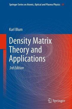Density Matrix Theory and Applications (eBook, PDF) - Blum, Karl