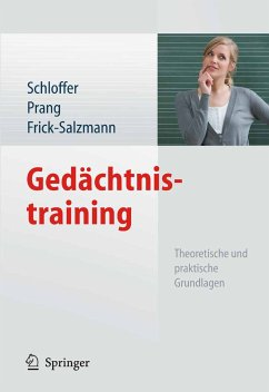 Gedächtnistraining (eBook, PDF) - Schloffer, Helga; Frick-Salzmann, Annemarie; Prang, Ellen