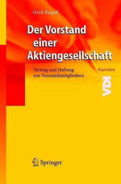 Der Vorstand einer Aktiengesellschaft (eBook, PDF) - Raguß, Gerd
