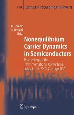 Nonequilibrium Carrier Dynamics in Semiconductors (eBook, PDF)