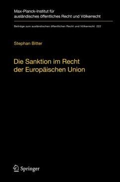 Die Sanktion im Recht der Europäischen Union (eBook, PDF) - Bitter, Stephan