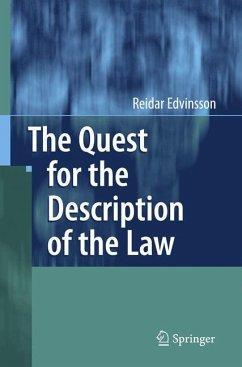 The Quest for the Description of the Law (eBook, PDF) - Edvinsson, Reidar