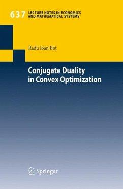 Conjugate Duality in Convex Optimization (eBook, PDF) - Bot, Radu Ioan