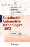 Sustainable Automotive Technologies 2012 (eBook, PDF)