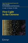 First Light in the Universe (eBook, PDF)