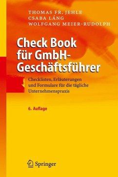 Check Book für GmbH-Geschäftsführer (eBook, PDF) - Meier-Rudolph, Wolfgang; Láng, Csaba; Jehle, Thomas F.