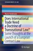 Does International Trade Need a Doctrine of Transnational Law? (eBook, PDF)