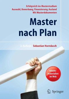 Master nach Plan. Erfolgreich ins Masterstudium...