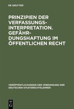 Prinzipien der Verfassungsinterpretation. Gefährdungshaftung im öffentlichen Recht (eBook, PDF)