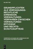 Grundpflichten als verfassungsrechtliche Dimension. Verwaltungsverfahren zwischen Verwaltungseffizienz und Rechtsschutzauftrag (eBook, PDF)