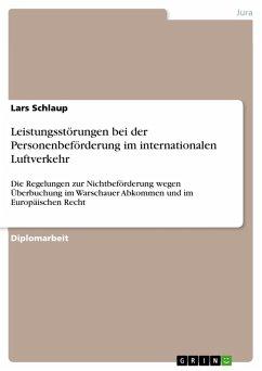 Leistungsstörungen bei der Personenbeförderung im internationalen Luftverkehr (eBook, PDF)