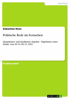 Politische Rede im Fernsehen (eBook, PDF)
