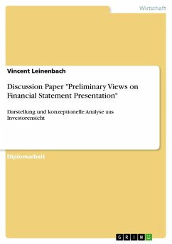 """Discussion Paper """"Preliminary Views on Financial Statement Presentation"""" (eBook, PDF)"""