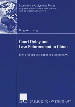 Court Delay and Law Enforcement in China (eBook, PDF) - Jiang, Qing-Yun