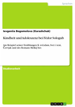 Kindheit und Adoleszenz bei Fëdor Sologub (eBook, PDF)