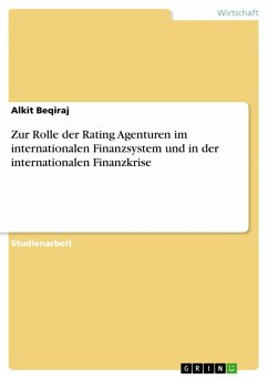 Zur Rolle der Rating Agenturen im internationalen Finanzsystem und in der internationalen Finanzkrise (eBook, ePUB)