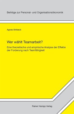 Wer wählt Teamarbeit? (eBook, PDF) - Stribeck, Agnes
