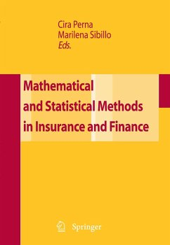 Mathematical and Statistical Methods in Insurance and Finance (eBook, PDF)