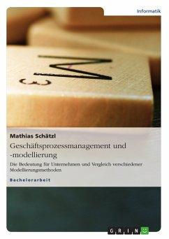 Geschäftsprozessmanagement und -modellierung (eBook, PDF)