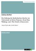Die Haltung der Katholischen Kirche zur Todesstrafe in Helen Prejeans »Dead Man Walking« und »The Death of Innocents« (eBook, PDF)