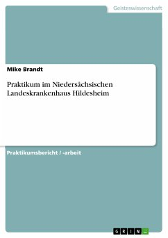 Praktikum im Niedersächsischen Landeskrankenhaus Hildesheim (eBook, PDF)