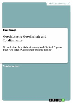 Geschlossene Gesellschaft und Totalitarismus (eBook, PDF)