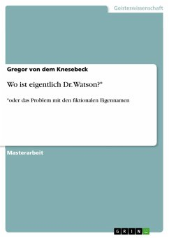 Wo ist eigentlich Dr. Watson?* (eBook, PDF)