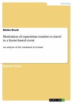 Motivation of equestrian tourists to travel to a horse-based event (eBook, PDF)