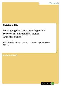 Anhangangaben zum beizulegenden Zeitwert im handelsrechtlichen Jahresabschluss (eBook, PDF)