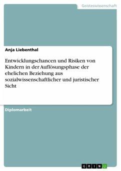 Entwicklungschancen und Risiken von Kindern in der Auflösungsphase der ehelichen Beziehung aus sozialwissenschaftlicher und juristischer Sicht (eBook, PDF) - Liebenthal, Anja