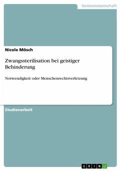Zwangssterilisation bei geistiger Behinderung (eBook, PDF)
