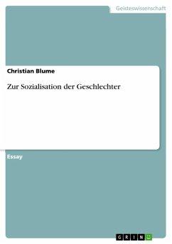 Zur Sozialisation der Geschlechter (eBook, ePUB)