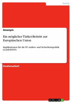Ein möglicher Türkei-Beitritt zur Europäischen Union (eBook, PDF)