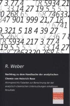 Nachtrag zu dem Handbuche der analytischen Chemie von Heinrich Rose