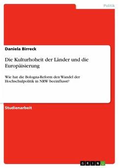 Die Kulturhoheit der Länder und die Europäisierung (eBook, PDF)