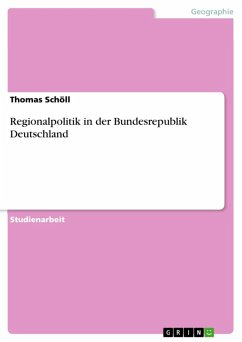 Regionalpolitik in der Bundesrepublik Deutschland (eBook, ePUB)