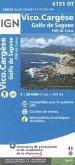 IGN Karte, Carte de randonnée (et plein air) Vico, Cargèse, Golfe de Sagone