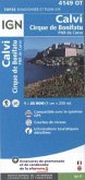 IGN Karte, Carte de randonnée (et plein air) Calvi, Cirque du Bonifatu